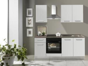 Küchenblock in Weiß/Eiche ´Belluna 195CM Weiss/Eichegrau