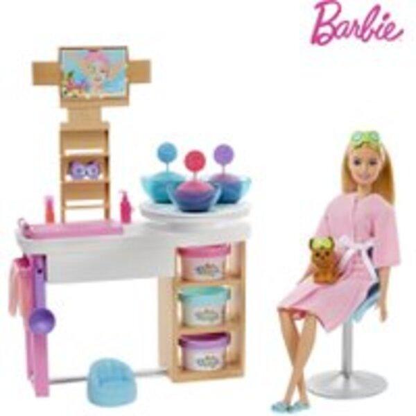 Barbie Wellness Gesichtsmasken Spielset und Puppe