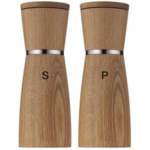 WMF Salz- und pfefferstreuer , 0652334500 , Holz, Glas , Eiche , 17.90 cm , 0037310575