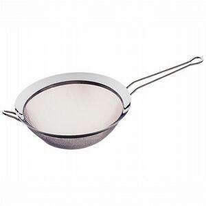 WMF Küchensieb , 0644129990 , Silberfarben , Metall , poliert , hängbar, feinmaschig, Halterung , 0037310329