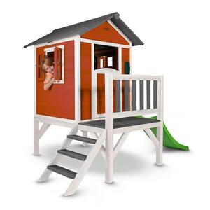 XXXLutz Spielhaus lodge xl , C050.002.05 , Grau, Rot, Weiß , Holz , Zeder , 261x189x168 cm , gebeizt,Echtholz , 004005001601