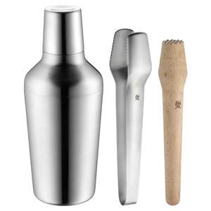WMF Cocktail-set , 0636836030 , Braun, Silberfarben , Holz, Metall , Buche , 700 ml , 10x24x10 cm , matt , 0037310712