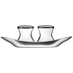 WMF Salz- und pfefferstreuer , 0660079990 , Klar, Edelstahlfarben , Metall, Glas , 17 cm , matt , 0037311747