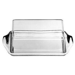 WMF Butterdose metall, kunststoff , 0609216030 , Edelstahlfarben, Transparent , 16x10 cm , matt , 0037310497