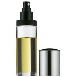 WMF Ölflasche , 0619286030 , Klar, Schwarz, Edelstahlfarben , Metall, Kunststoff, Glas , 0,13 L , einfaches Dosieren , 0037313036