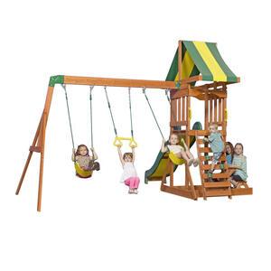 XXXLutz Spielturm sunnydale , B1808010 Sunnydale , Braun , Holz , Zeder , 406.4x284.4x328 cm , Echtholz , 004005002901