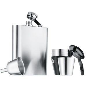 WMF Flachmannset , 0603529990 , Edelstahlfarben , Metall , 200 ml , 10x13 cm , matt , 0037315272
