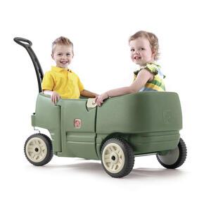 XXXLutz Bollerwagen for two plus dunkelgrün , 766500 , Kunststoff , 108x100.3x51.4 cm , 004005013701