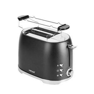 Mican Toaster , Ta1729A-Ce , Dunkelgrau , Metall, Kunststoff , 18.4x19.6x30.3 cm , poliert, lackiert,glänzend, Struktur , Krümelschublade, Auftaufunktion, Schnellstoppfunktion, wärmeisoliertes Geh