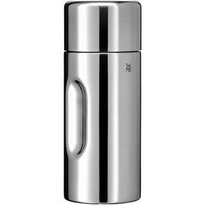 WMF Isolierflasche 0,5 l , 06 9620 6040 , Silberfarben , Metall, Kunststoff , Uni , glänzend , Verschluss als Trinkbecher verwendbar, abnehmbarer Deckel, hält warm, hält kalt, rostfrei , 003731208