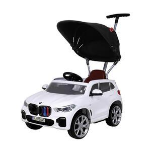 XXXLutz Schiebe-/rutschfahrzeug bmw x5 rollplay push car , Push CAR BMW X5 , Schwarz, Weiß , Kunststoff , 46.5x101.2x110.3 cm , glänzend , Hupton, Fußstützen, höhenverstellbare Schubstange , 006