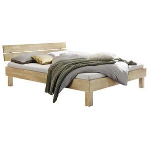 Hasena Bett eiche massiv , Prato , Eichefarben , Holz , 140x200 cm , geölt,Echtholz , in verschiedenen Holzarten erhältlich, in verschiedenen Größen erhältlich,in verschiedenen Holzarten erhält
