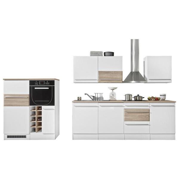 MID.YOU Küchenleerblock , Welcome Big , Weiß, Eichefarben , 240x120x205 cm , Nachbildung , 001279003701
