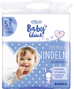 elkos Babyglück Windeln Größe 5 Junior 11-25 kg 33 Stück