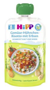 Hipp Bio Gemüse-Hühnchen-Risotto mit Erbsen ab 8.Monat 130 g