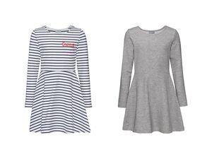PEPPERTS® Kleider Mädchen, French-Terry-Qualität, mit Bio-Baumwolle, 2 Stück