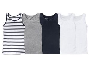 PEPPERTS® Unterhemd Mädchen, hoher Bio-Baumwollanteil, mit Elasthan, 5 Stück
