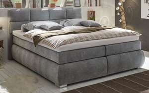 Boxspringbett Bologna 8 in dark grey