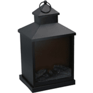 GRUNDIG Kamin LED Dekobeleuchtung, Schwarz, Flammeffekt