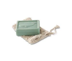 Seife mit Seifensäckchen
