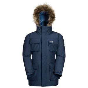 Jack Wolfskin Ice Explorer Jacket Kids Winter-Hardshell-Parka Kinder 116 blau dark indigo