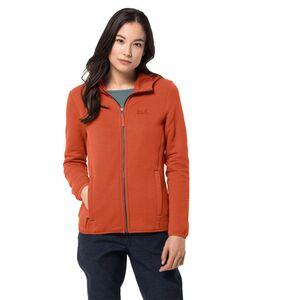 Jack Wolfskin Natori Hooded Jacket Women Fleecejacke Frauen XXL orange saffron orange