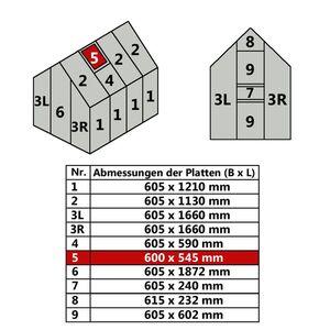 Hohlkammerstegplatte 60 x 54,5 cm