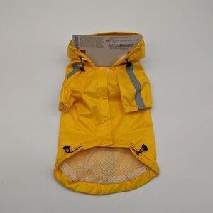 Hunde-Regenmantel reflektierend, gelb
