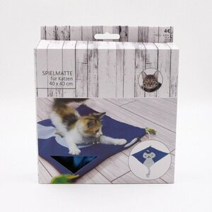Katzenspielmatte / Katzenspielteppich, ca. 40 x 40 cm, Polyethylen, blau