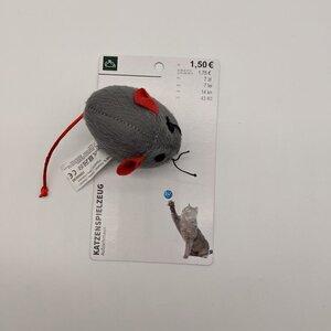Katzenspielzeug Aufziehmaus, grau