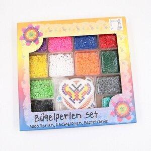 Großes Bügelperlen-Set, 12 Farben, 5 Schablonen, 3000 Perlen