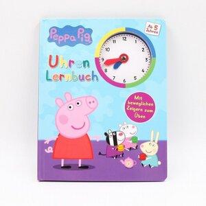 Peppa Pig Uhrenlernbuch / Lernspielbuch mit beweglichen Zeigern, 12 Seiten