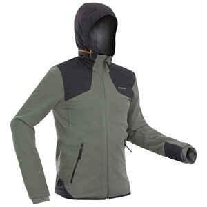 Fleecejacke Winterwandern SH500 X-Warm Herren khaki