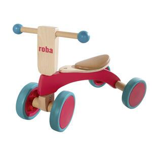 Roba Rutschfahrzeug holzrutscher , 97002 Holzrutscher , Naturfarben, Rot , Holz, Kunststoff , Schichtholz , 28x37x52 cm , lackiert, bedruckt,teilmassiv , 004204015101