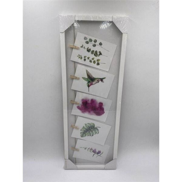 5er Bilderrahmen mit Klammern, Collage, 63x23cm, Weiß