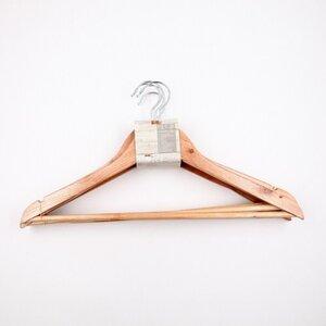 5er-Pack Kleiderbügel, 44,5 cm, Holz, natur