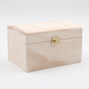 """Aufbewahrungsbox """"Holztruhe"""" mit Klappdeckel, ca. 16 x 11 x 10,2 cm, natur"""