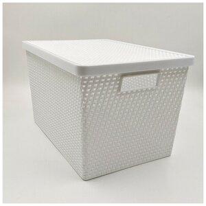 Aufbewahrungsbox mit Deckel, 37 x 26,5 x 23 cm, verschiedene Farben