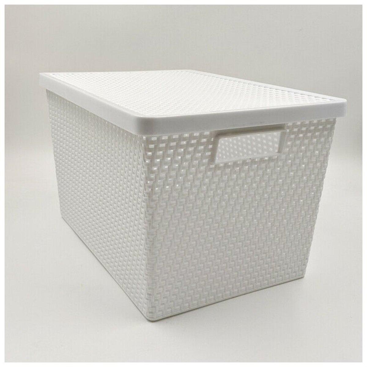 Bild 1 von Aufbewahrungsbox mit Deckel, 37 x 26,5 x 23 cm, verschiedene Farben