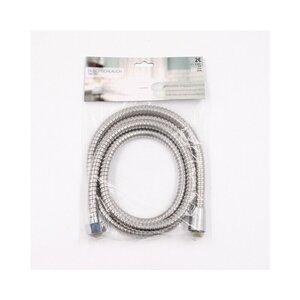 Duschschlauch Brauseschlauch mit Standardanschluss, ca. 180 cm, Metall, silber