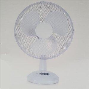 Elektrischer Tisch-Ventilator, ca. 30 cm, 40 Watt, weiß