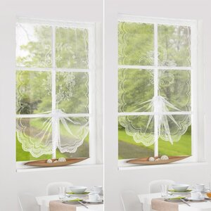 Gardine Schwalbenschwanz, weiß, 100 x 160 cm, Polyester