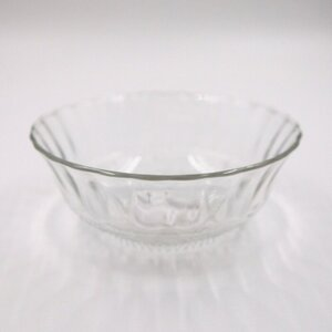 Glasschale/Glasschüssel, ca. 17 x 7 x 17 cm, Klarglas