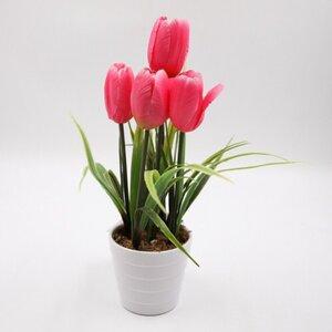 Künstliche Blume im Topf Kunstblume Tulpe Kunstpflanze 32 cm