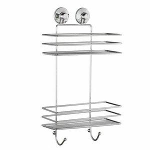 Metallregal Badezimmer Dusche Rechteckig 2 Etagen 25 x 10 x 39 cm