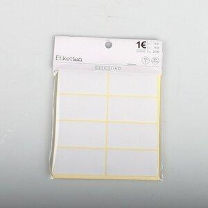 32 x 8 Klebe-Etiketten/Label, 33 x 64 mm, weiß