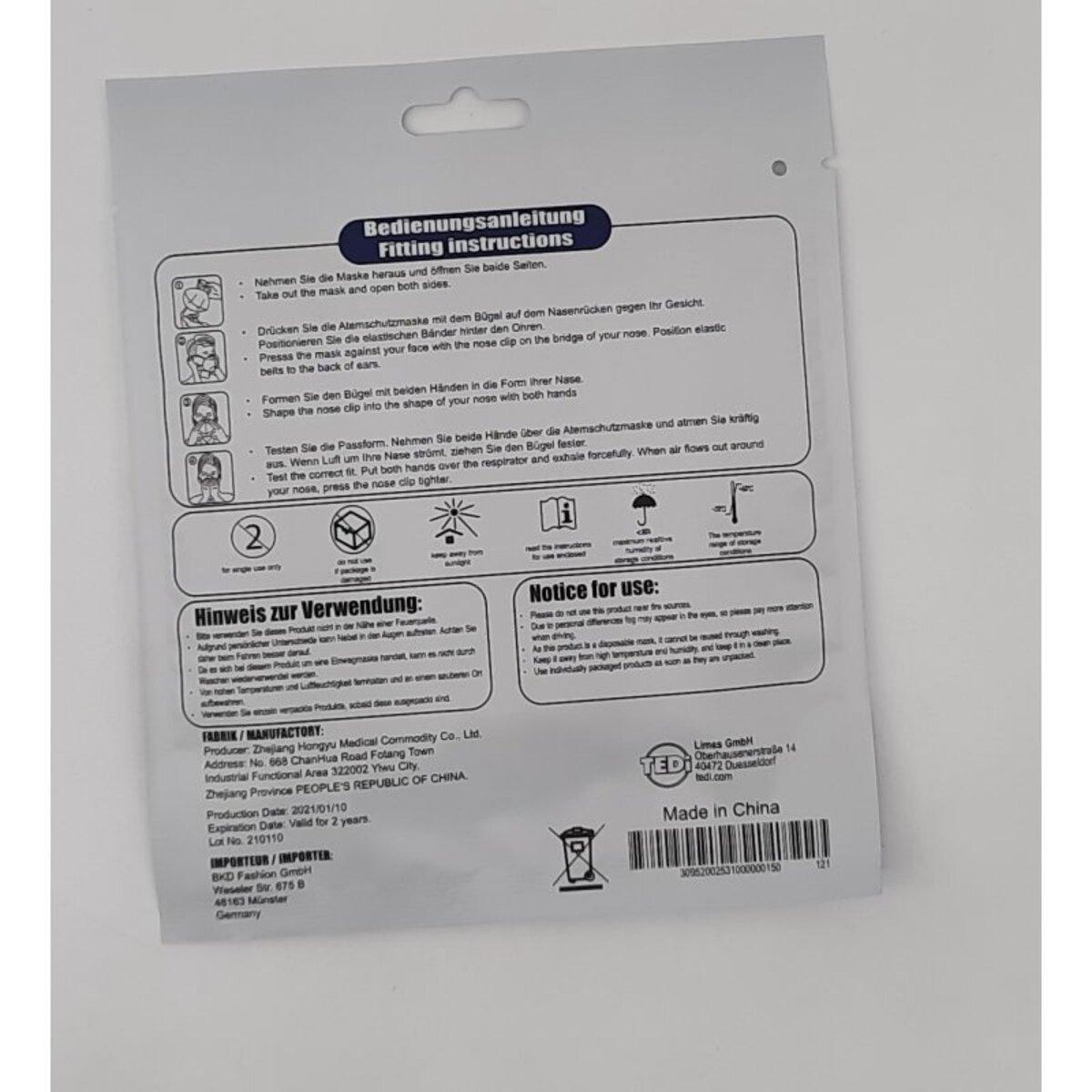 Bild 2 von FFP2-Maske Faltbare Partikel-Atemschutzmaske
