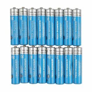 16 Stück Micro AAA Batterien Zink Kohle, 1,5 V