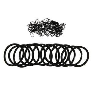 Haargummi-Set 112 Stück, schwarz