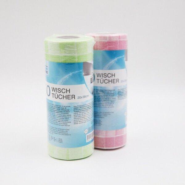 50 perforierte Wischtücher auf Rolle, ca. 20 x 38 cm, verschiedene Farben